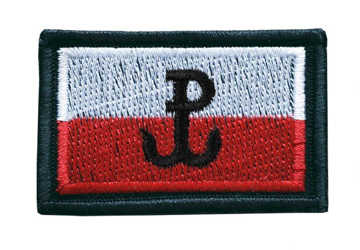 emblemat flaga Polski, naszywka wojskowa haftowana, emb, naszywka
