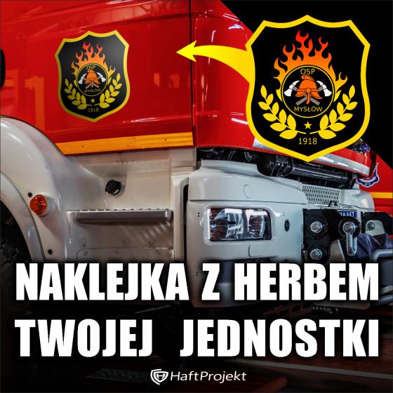 Duża Naklejka 30cm na wóz strażacki