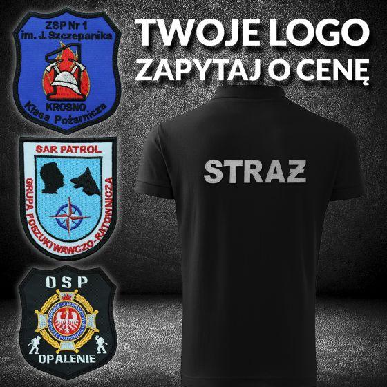 Bluza OSP indywidualne logo, haft SZARY NAPIS