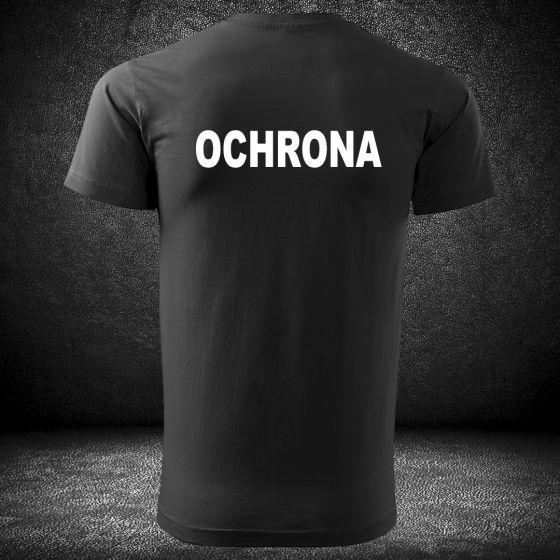 T-SHIRT CZARNA Koszulka OCHRONA DTG