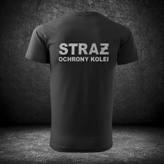 T-SHIRT Koszulka STRAŻ OCHRONY KOLEI haft