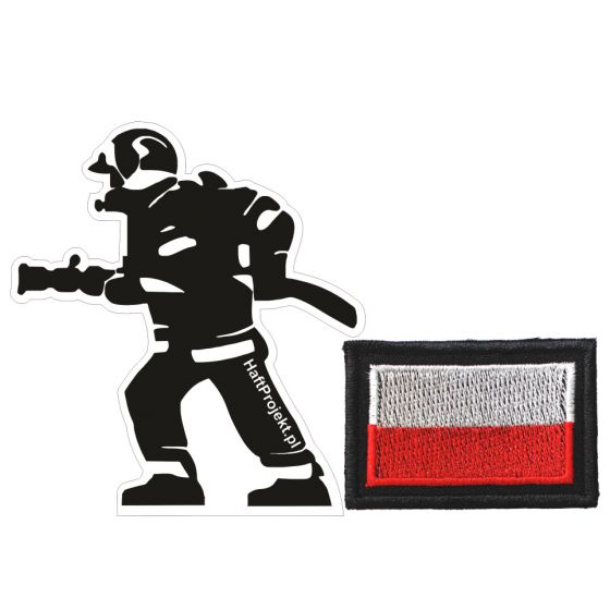 naklejka strażak na samochód