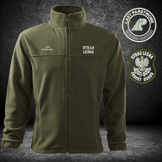 Haft na odzieży logo straż leśna forest guard