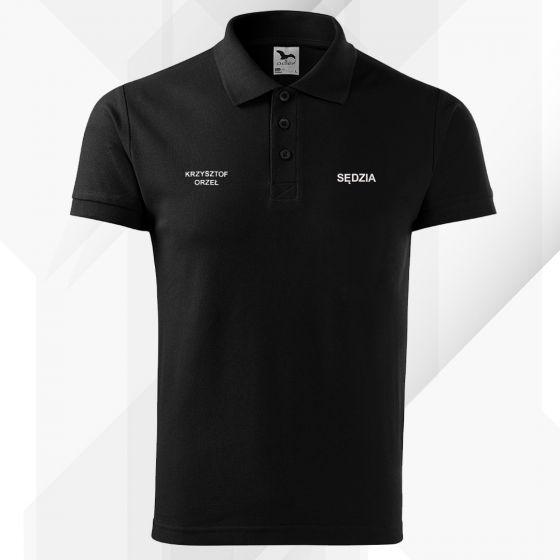 Czarna koszulka polo SĘDZIA STRZELECTWA SPORTOWEGO haft