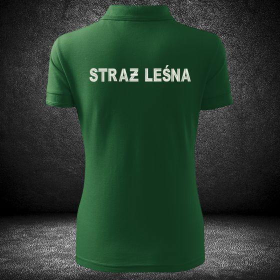 Wysokiej jakości haftowana damska koszulka polo straż leśna indywidualne napisy dodatkowe