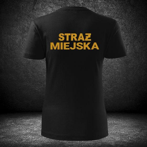 DAMSKI T-SHIRT koszulka STRAŻ MIEJSKA haft