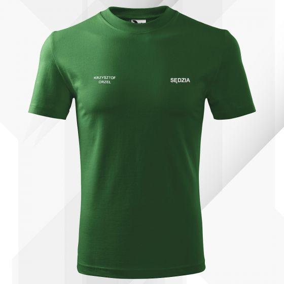 Zielona Koszulka T-SHIRT SĘDZIA STRZELECTWA SPORTOWEGO druk DTG