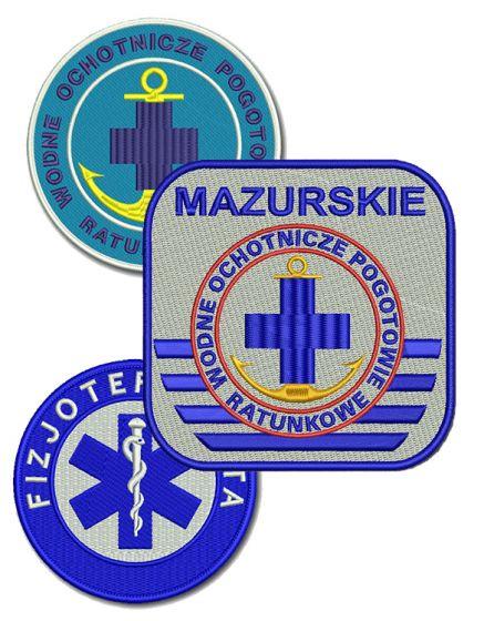 haft komputerowy naszywka dla służb ratowniczych emblemat logo naszywki