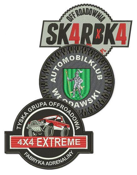 haft komputerowy naszywki motoryzacyjne emblemat logo naszywki