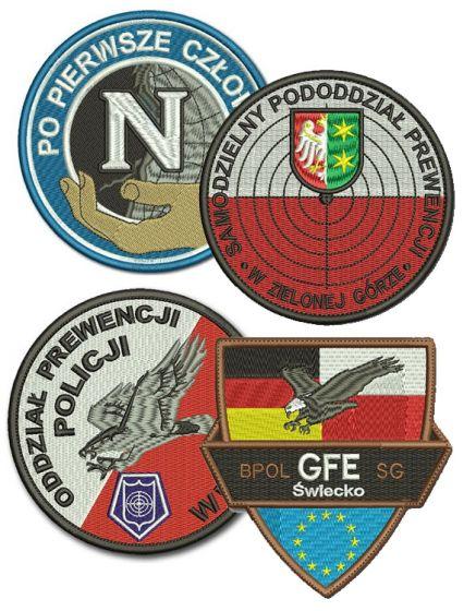 haft komputerowy naszywka policja emblemat twoje logo naszywki herby, hawt