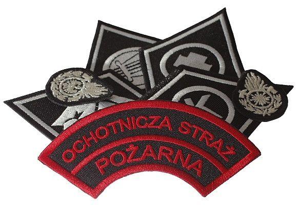 haft komputerowy naszywki haftowane emblematy osp psp, dysfunkcje