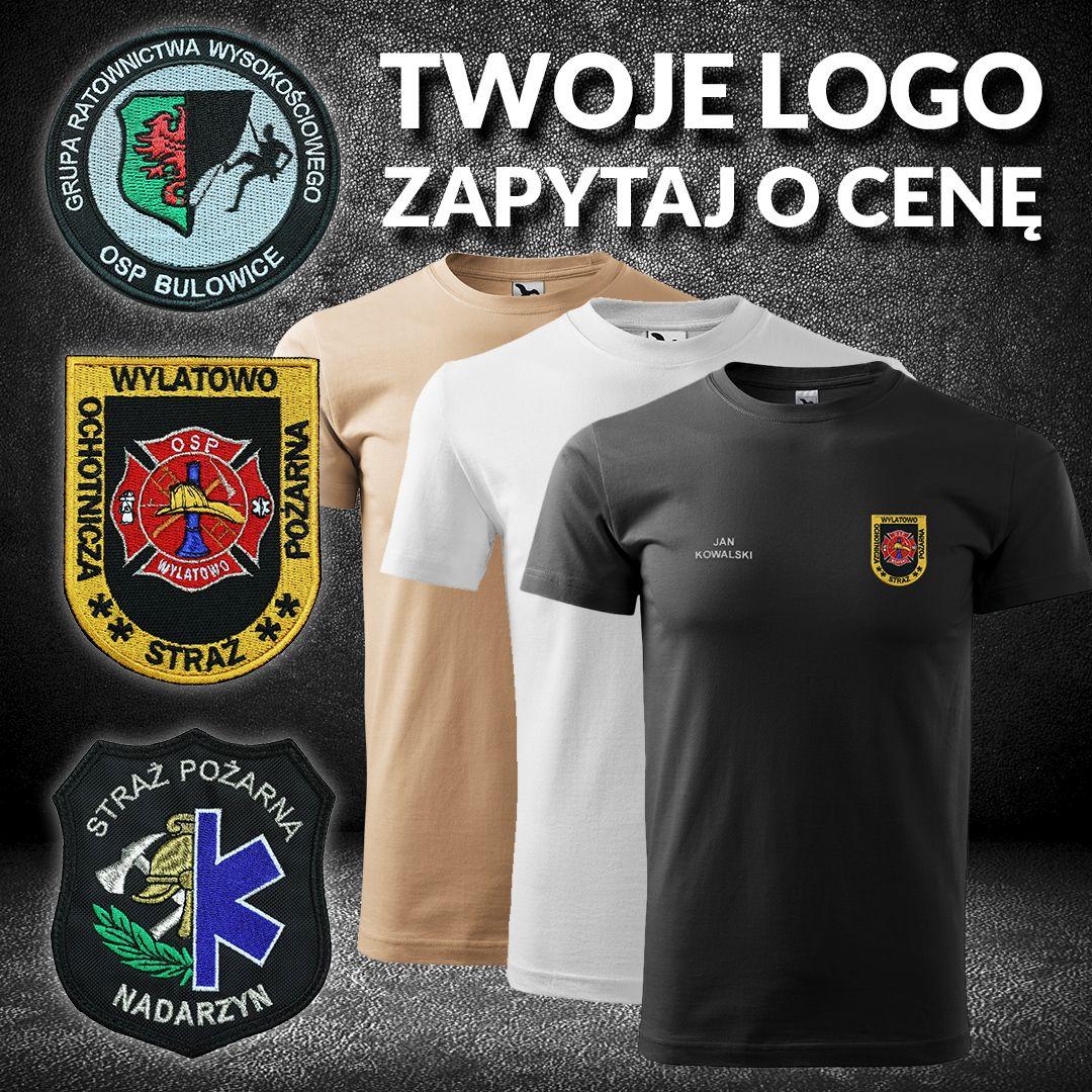 Koszulka strażacka, t shirt z Twoim logo, Twój wzór, herb  HSOHS