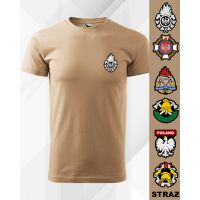 Koszulka POLO piaskowa STRAŻ OSP PSP (kol. coyote) DTG