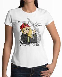 Jestem dziewczyną strażaka, koszulka  STRAŻACKA z nadrukiem DTG0006
