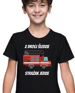 Biała dziecięca koszulka STRAŻ -  MDP OSP PSP, DTG