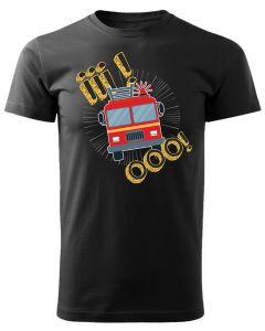 Im jest goręcej tym szybciej przybywamy, męska koszulka  STRAŻACKA z nadrukiem DTG0014