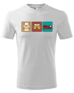 śmieszna koszulka strażacka OCHOTNIK