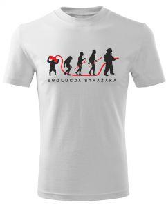 STRAŻAK TRYLOGIA z napisem, męska koszulka  STRAŻACKA z nadrukiem DTG0018