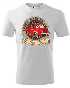 Ewolucja STRAŻAKA, męska koszulka  STRAŻACKA z nadrukiem DTG0019