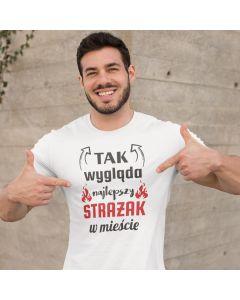 IFA W50 LA, stara miłość nie rdzewieje, męska koszulka  STRAŻACKA z nadrukiem DTG0023