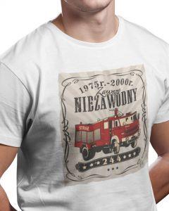 Bogu na chwałę ludziom na ratunek, męska koszulka  STRAŻACKA z nadrukiem DTG0027