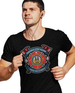Męska koszulka  STRAŻACKA z nadrukiem prezent dla strażaka DTG0029