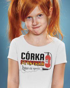 CÓRKA STRAŻAKA, dziecięca koszulka  STRAŻACKA z nadrukiem DTG0013