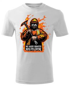 Męska koszulka STRAŻACKA z nadrukiem prezent dla strażaka DTG0031