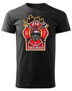 Męska koszulka STRAŻACKA z nadrukiem prezent dla strażaka DTG0033