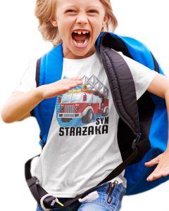 Na akcję - dziecięca koszulka  STRAŻACKA z nadrukiem DTG0035