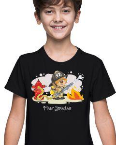 Syn Strażaka - dziecięca koszulka  STRAŻACKA z nadrukiem DTG0037