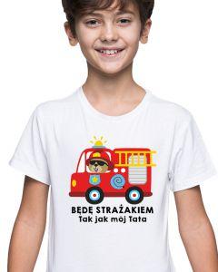Mały Strażak - dziecięca koszulka  STRAŻACKA z nadrukiem DTG0038