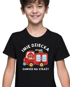 Będę Strażakiem - dziecięca koszulka  STRAŻACKA z nadrukiem DTG0039