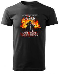 Męska koszulka STRAŻACKA z nadrukiem prezent dla strażaka DTG0030