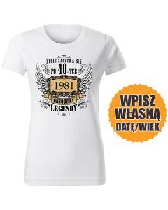 Wciąż na oryginalnych częściach biała DAMSKA koszulka urodzinowa DTG0047