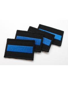 Haftowana naszywka Orzeł POLICJA Cienka Niebieska Linia CNL 6x7,5cm IND