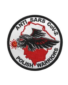 Naszywka COVID ANTI SARS Cov-2 Polish Warriors corona virus 90mm ind