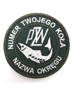 Naszywka PZW polski związek wędkarski 85mm