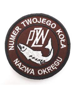 Naszywka PZW polski związek wędkarski 85mm  PZW002