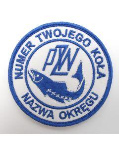 Naszywka PZW polski związek wędkarski 85mm PZW003