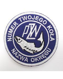 Naszywka PZW polski związek wędkarski 85mm  PZW004
