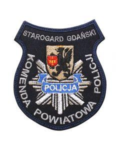 Naszywka Policja komenda Powiatowa Policji Człuchów NPO1008