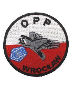 Naszywka policja Oddział Prewencji Policji we Wrocławiu OPP Wrocław 2 NPO1043 IND