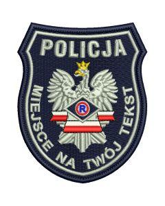Naszywka Policja Służba Wspomagająca IND WZ01