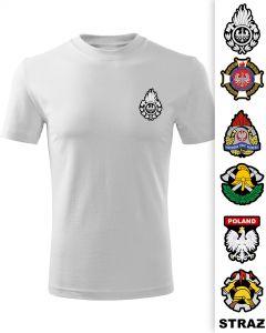 Tania koszulka piaskowa straż pożarna logo OSP