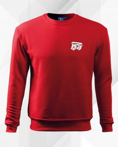 bluza młodzieżowa drużyna pożarnicza, czerwony dres mdp, biały haft