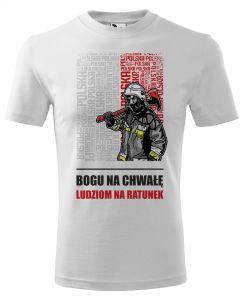 Najlepszy strażak w mieście, męska koszulka  STRAŻACKA z nadrukiem DTG0026