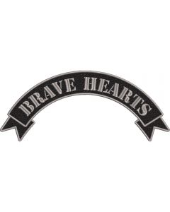 BRAVE HEARTS duża naszywka motocyklowa na plecy 22cm