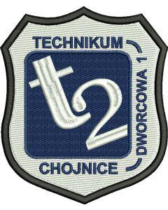 Chojnice technikum nr 2, indywidualna naszywka (S10002-01)