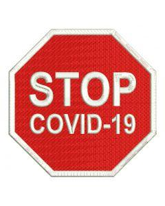 Naszywka COVID zakaz 80mm ind